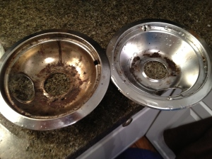 stove burner pans before/after